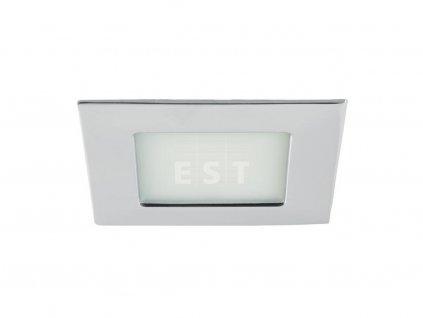Čtvercové LED svítidlo pro nízkou vestavbu, matný nikl, 5 W, 375 lm (12128153)