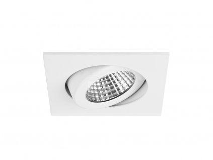 Čtvercové vestavné LED svítidlo se zvýšeným stupněm krytí, bílé, 6 W, 650 lm (12355073)