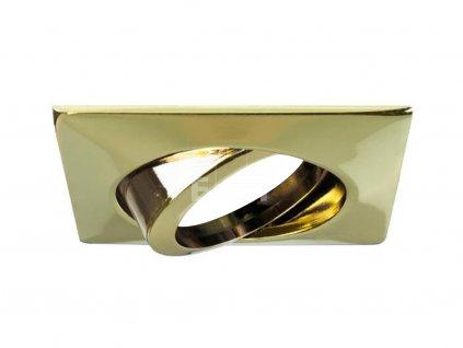 Vestavný rámeček pro podhledová svítidla, čtvercový, výklopný, pro GX5.3, zlatá (1964.05)