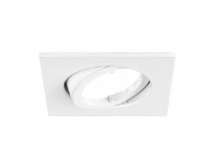 Vestavný rámeček pro nízkonapěťové žárovky, čtvercový, výklopný, pro GX5.3 12 V, bílá (32003070)