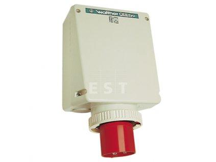 Nástěnná přívodka 125 A, 5P, 400 V, 6h, IP 67 (678 OK)