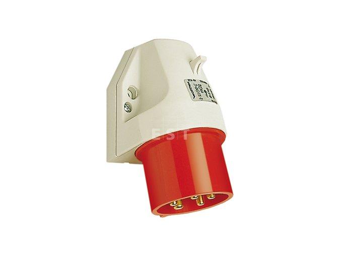 Nástěnná přívodka 16 A, 4P, 400 V, 6h, IP 44 (610406)