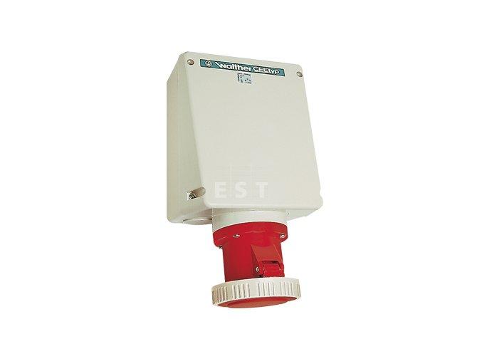 Nástěnná zásuvka 125 A, 5P, 400 V, 6h, IP 67, bez svorek (179OK)