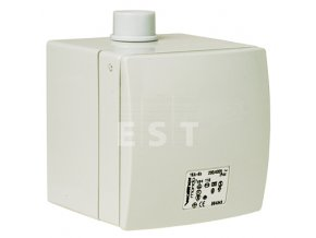 Nástěnná zásuvka na omítku MONDO, 32 A, 5P, 400 V, 6h, IP 44 (136)