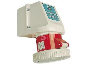 Nástěnná zásuvka 32 A, 4P, 400 V, 6h, IP 67 (139406)