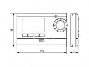 Digitální časový termostat Theben RAMSES 812 top2 (8120132)