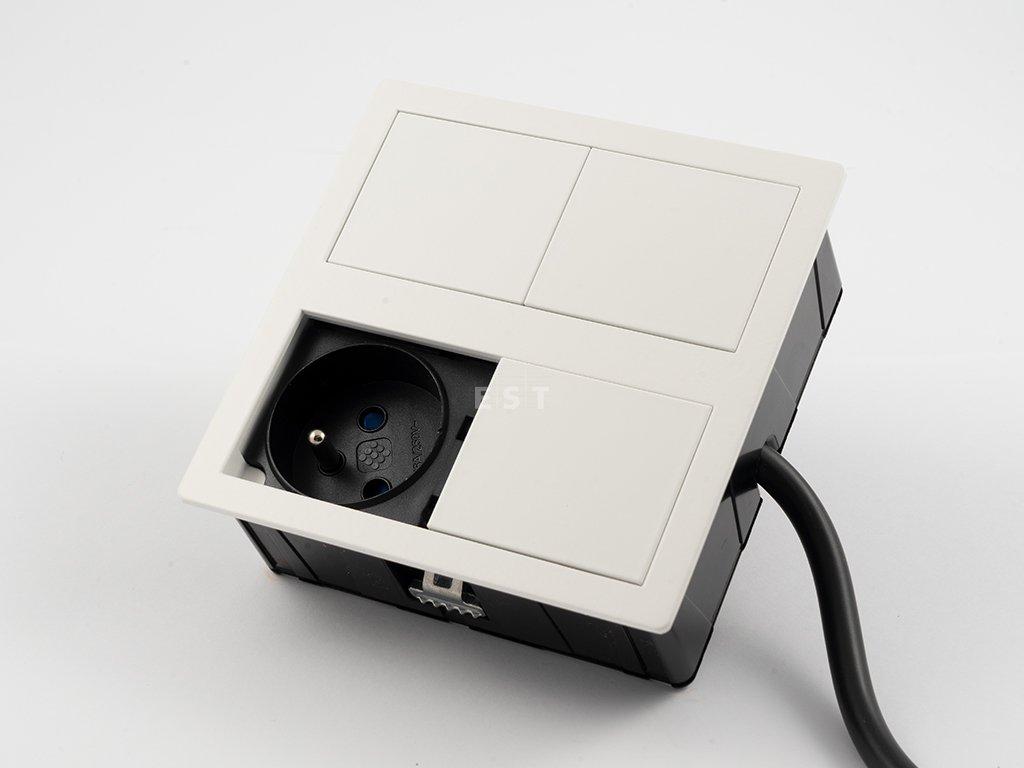 Skrytá jednotka Versahit dual, 1×230 V, 2×USB 5 V, biela RAL9003 (06015E00015)