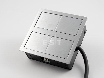 Skrytá jednotka Versahit dual, 2×230 V, kartáčovaná nerez (06015E00001)