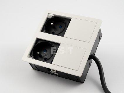 Skrytá jednotka Versahit dual, 2×230 V, biela RAL9003 (06015E00008)