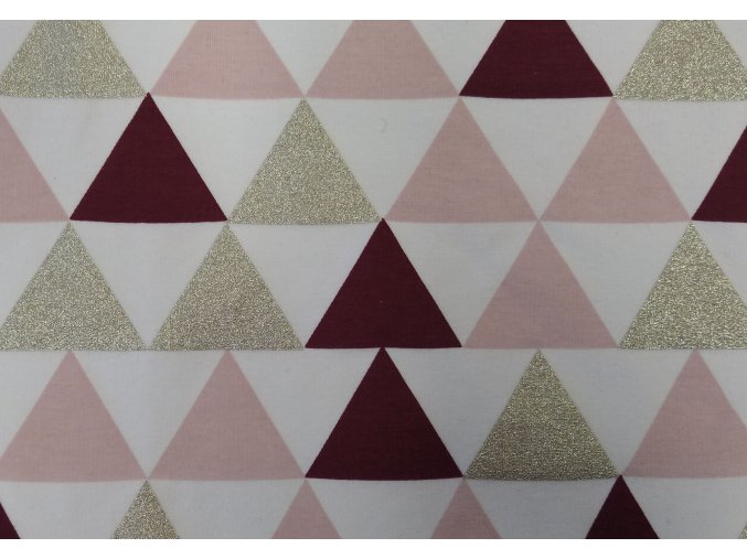teplákovina Trojúhelníky bordó