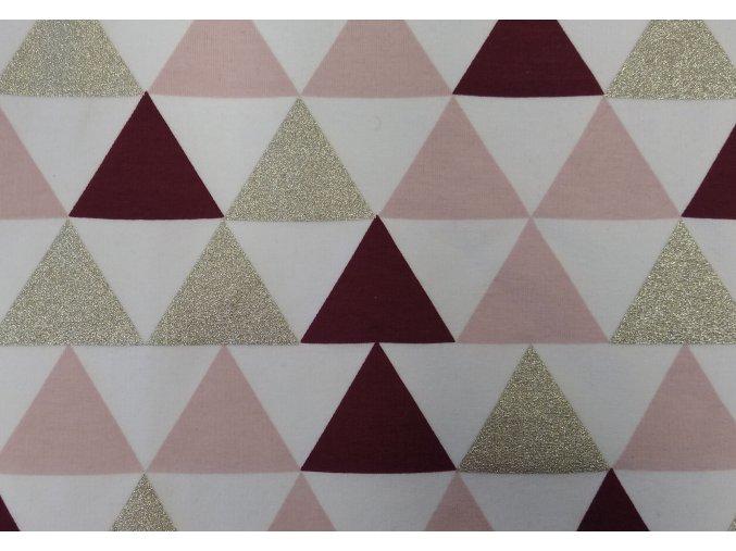 Trojúhelníky bordó teplákovina