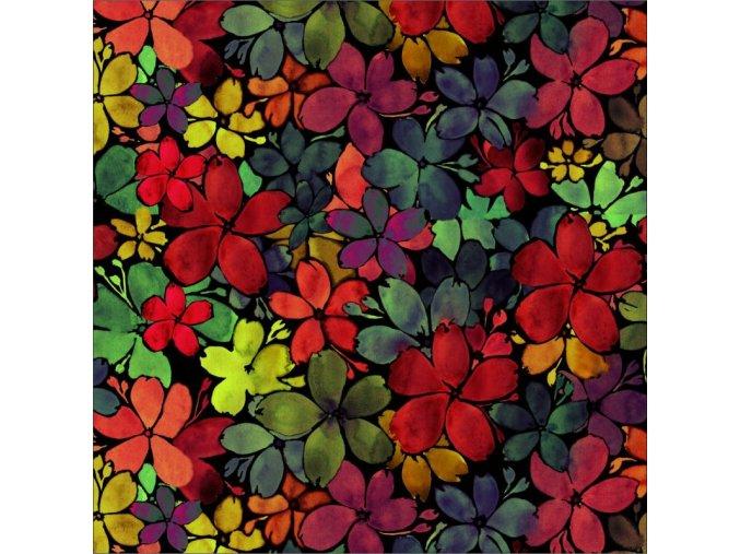 barevné květy do hněda