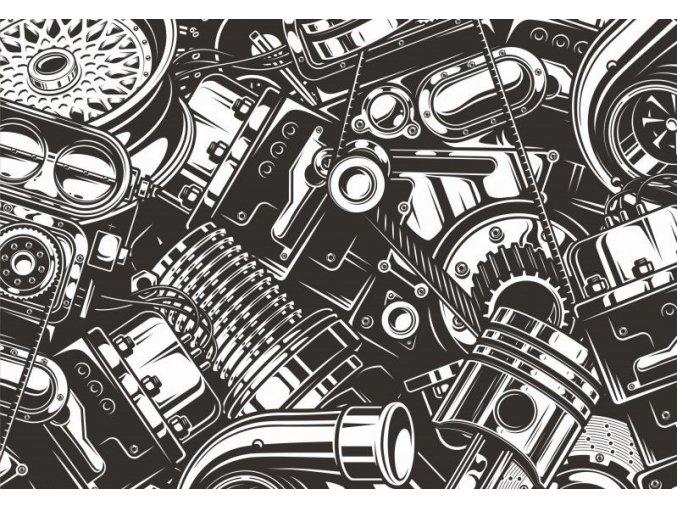 počesaný motory