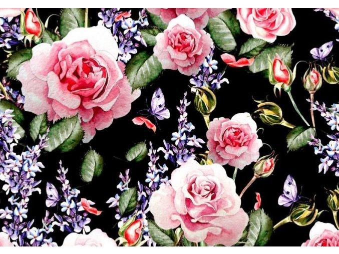 růže na černé
