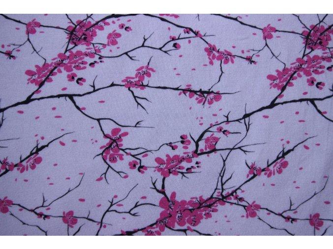 bavlněný úplet sakura