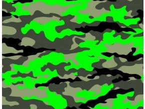 kamufláž zelená neon