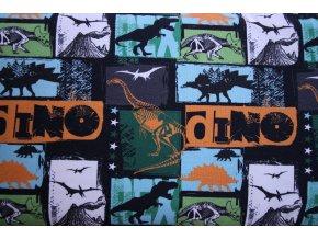 bavlněný úplet dino