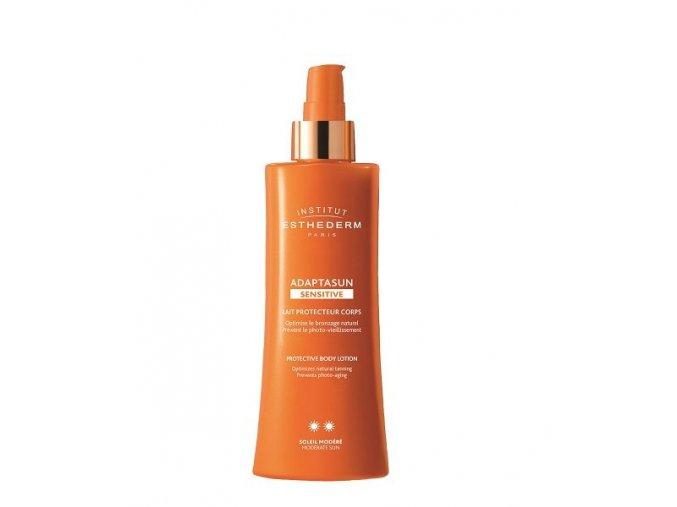 adaptasun sensitive skin body milk sun normal or strong sun telove mlieko pre citlivu plet pre silne slnko 510x600
