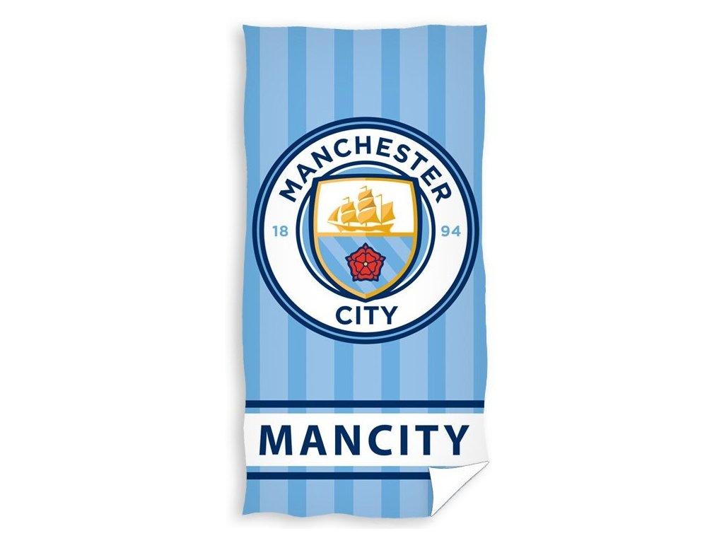 Osuška Manchester City stripes 75x150cm