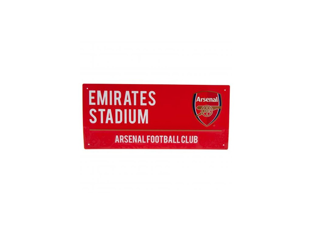 Plechová cedule Arsenal FC 40x18 cm RD
