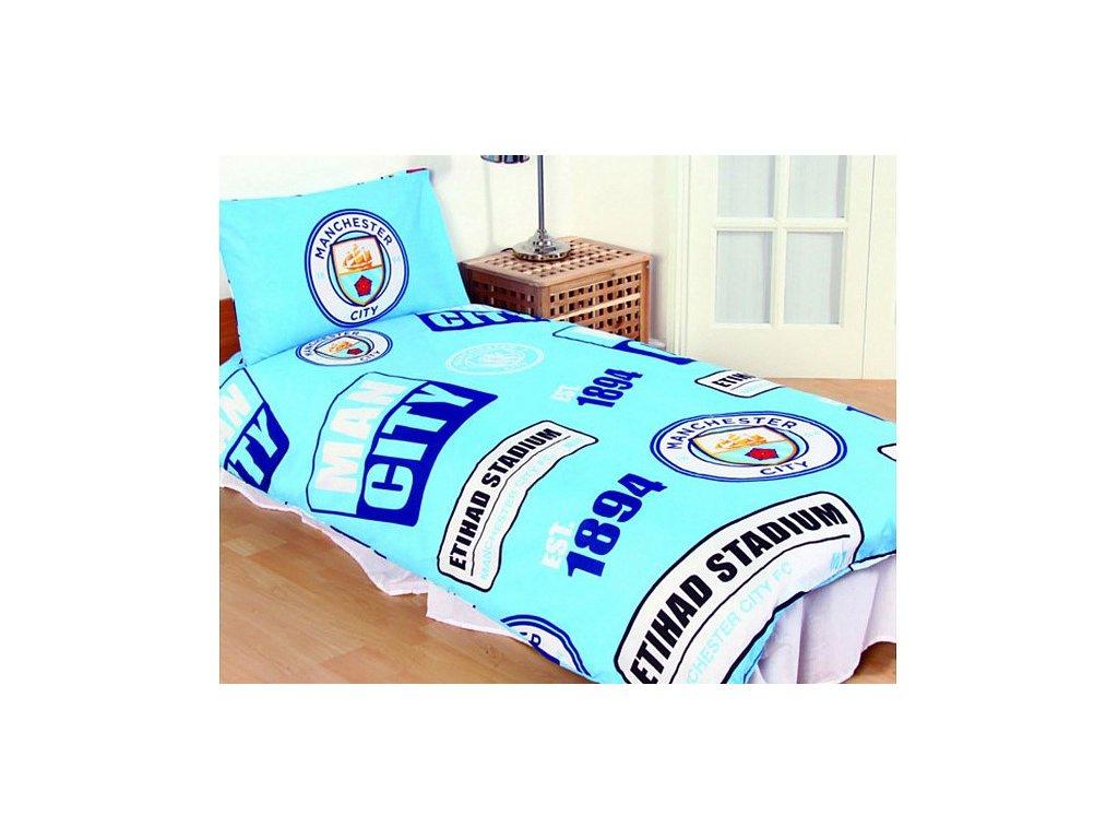 Povlečení Manchester City 135x200 cm, 50x75 cm