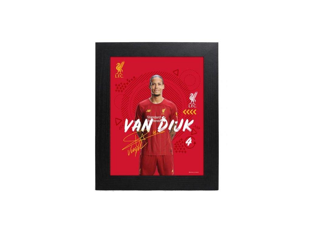 Zarámovaná fotografie Liverpool FC 25x20cm Van Dijk