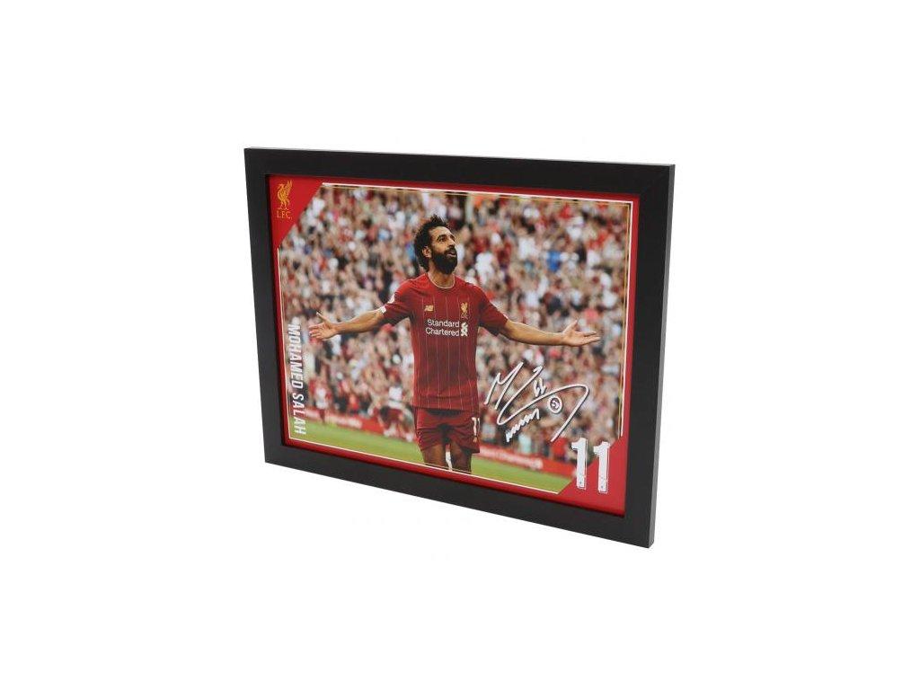 Zarámovaná fotografie Liverpool FC 40x30cm Salah