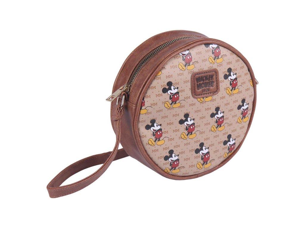 Dámská kabelka na rameno Disney: Mickey Mouse (18 x 18 x 5 cm) hnědý polyester