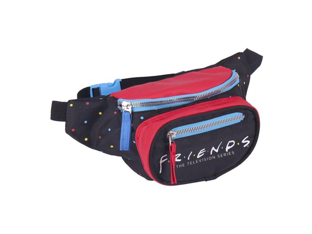 Kapsička kolem pasu - ledvinka Friends|Přátelé: (20 x 13 x 3 cm) černý polyester