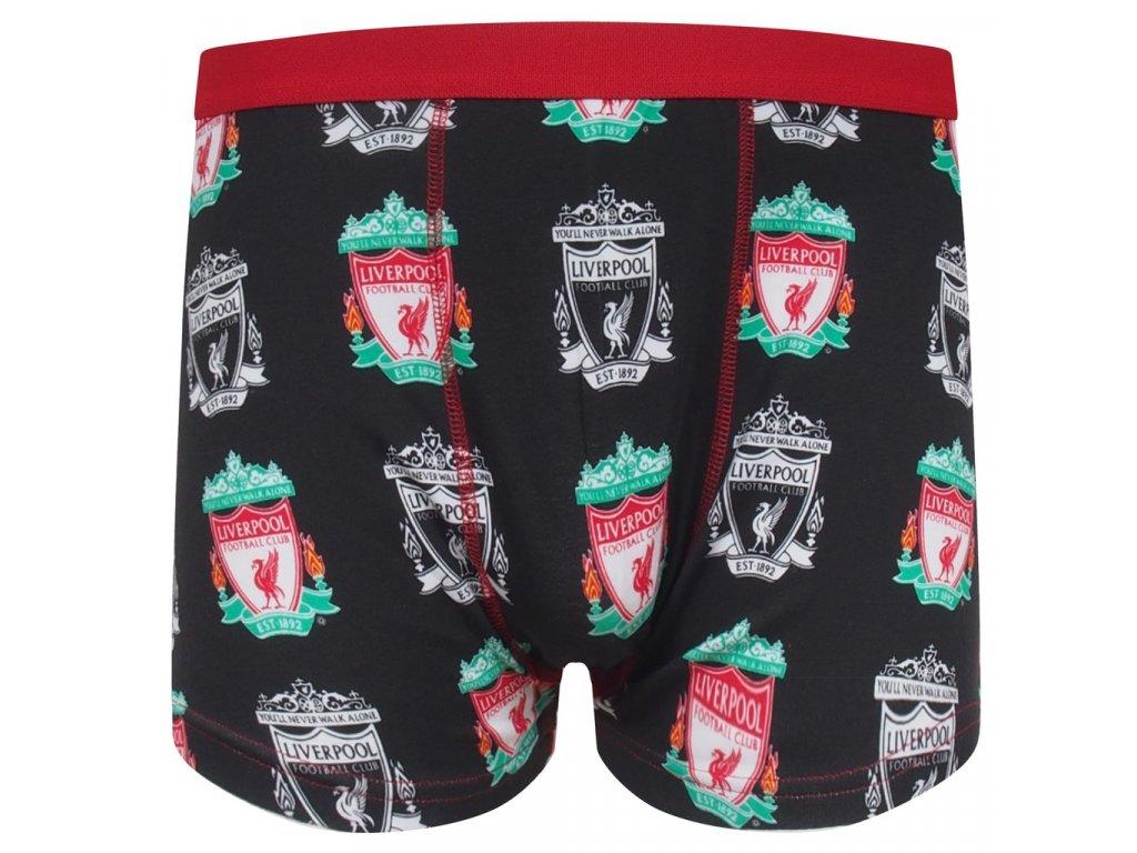 Pánské boxerky Liverpool FC crests black