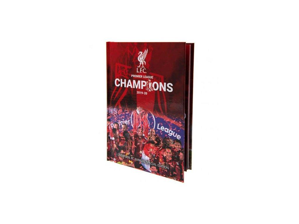Kniha Liverpool FC Champions ročenka 2021