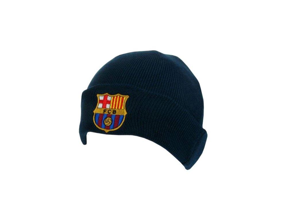 Zimní pletená čepice FC Barcelona: Přeložená (universální)