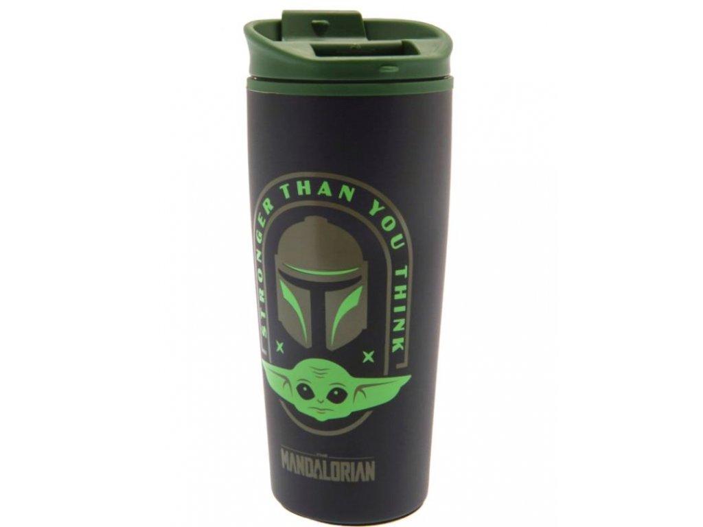 Cestovní hrnek Star Wars Hvězdné války The Mandalorian: Stronger Than You Think (objem 450 ml)
