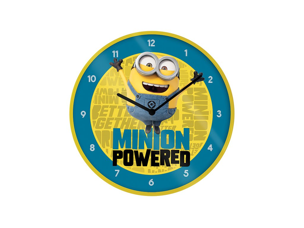 Nástěnné hodiny Minions Mimoni: The Rise Of Gru (průměr 25 cm)