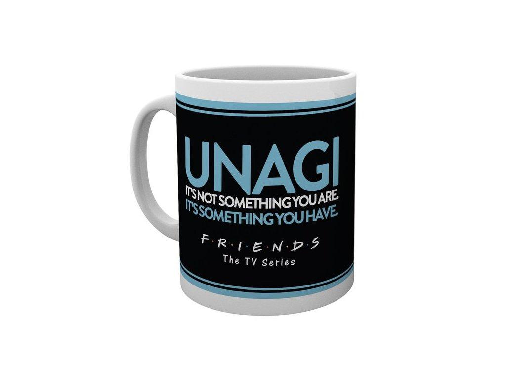 Keramický hrnek Friends|Přátelé: Unagi (objem 300 ml) bílý