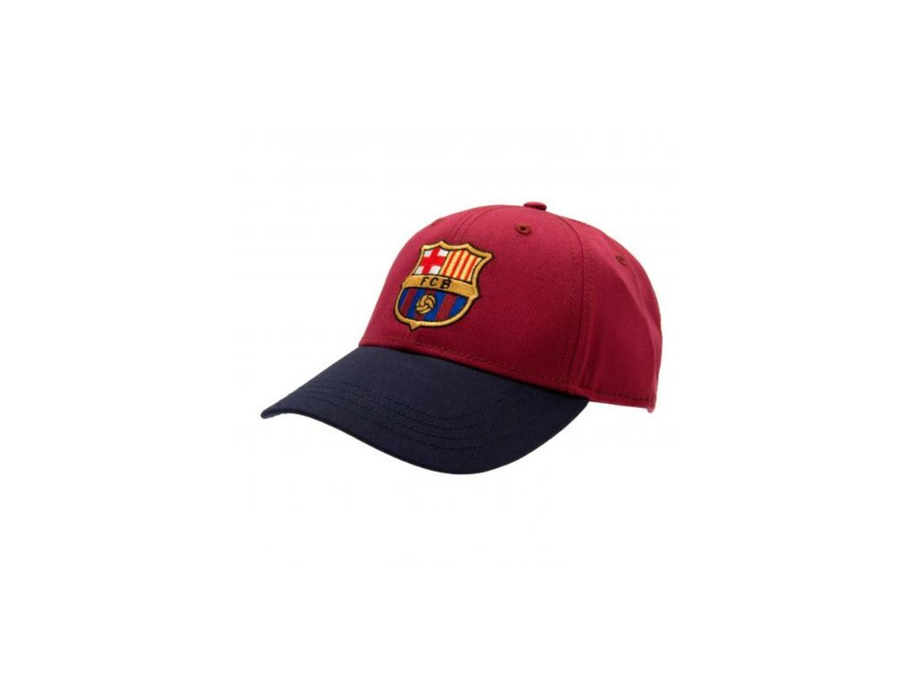 Kšiltovka FC Barcelona: Burgundy (obvod 54-58 cm) vínová bavlna