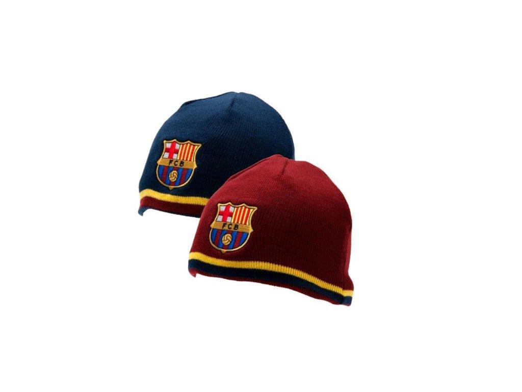 Oboustranná pletená čepice: FC Barcelona (universální)