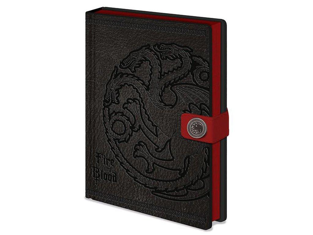 Poznámkový blok Game of Thrones|Hra o Trůny: Targaryen (14,8 x 21 cm)