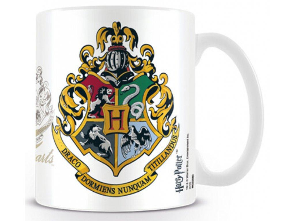 Bílý keramický hrnek Harry Potter: Hogwarts - Bradavice (objem 315 ml)