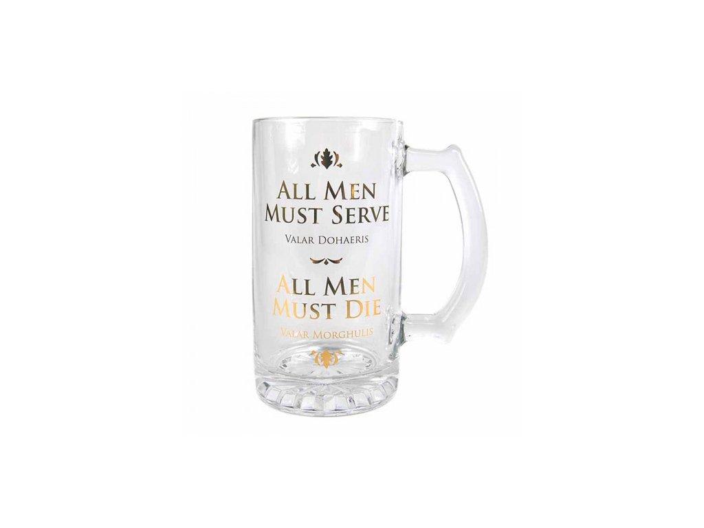Sklenice Game of Thrones|Hra o Trůny: All Men Must Die (objem 500 ml)