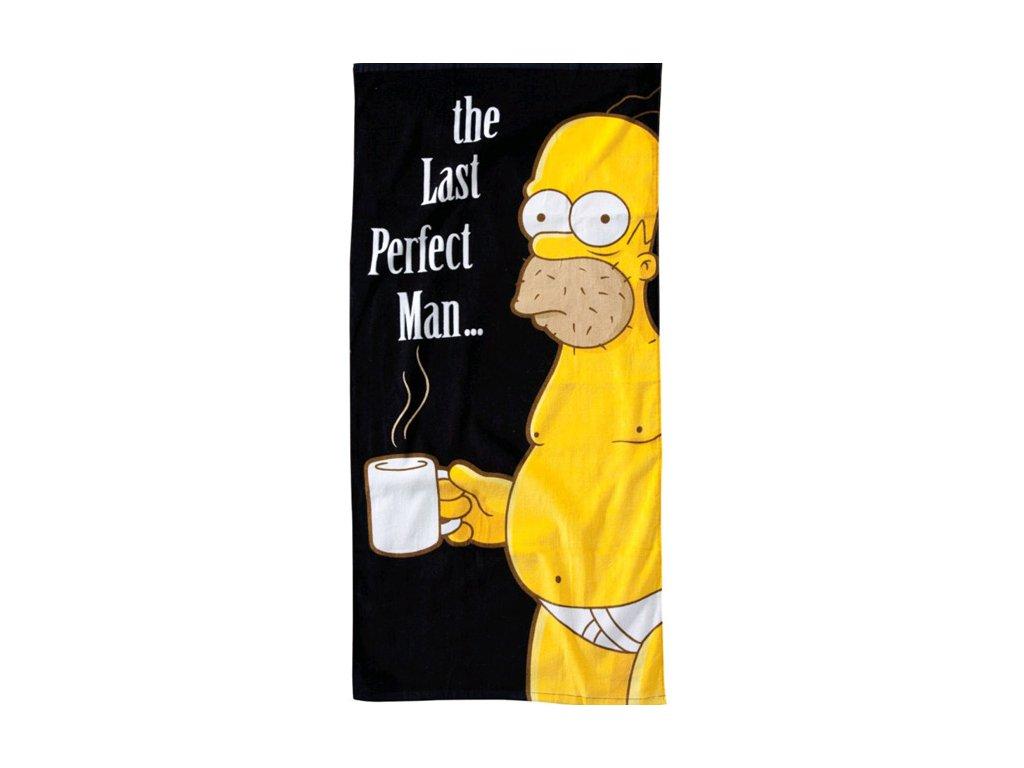 Osuška The Simpsons|Simpsnovi: Homer Last Perfect Man (75 x 152 cm, 380 g|m2)
