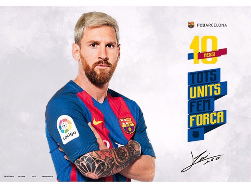 Podložka na stůl FC Barcelona: Lionel Messi (49,5 x 34,5 cm)