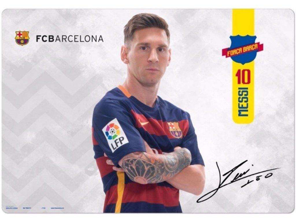 Podložka na stůl FC Barcelona: Messi (49,5 cm x 34,5 cm)
