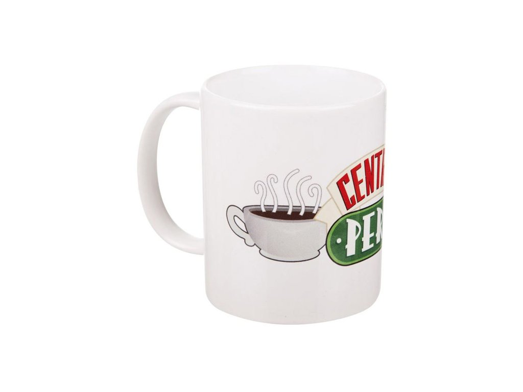 Bílý keramický hrnek Friends|Přátelé: Central Perk (objem 315 ml)