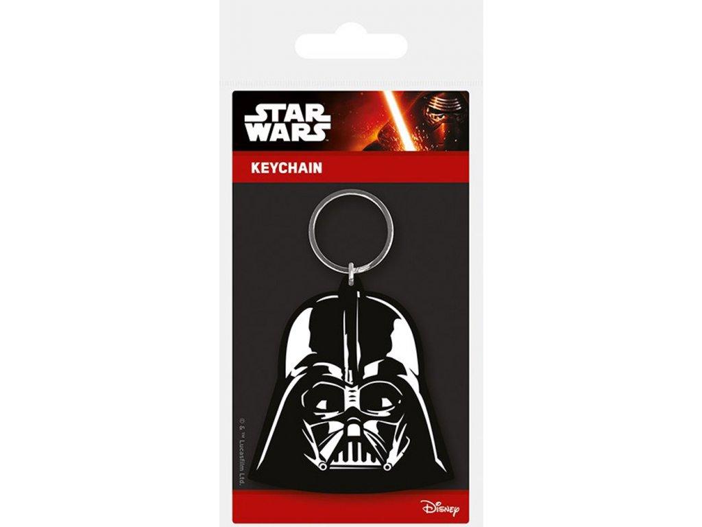 Přívěsek na klíče Star Wars|Hvězdné Války: Darth Vader ( 5 x 6 cm) pryžový