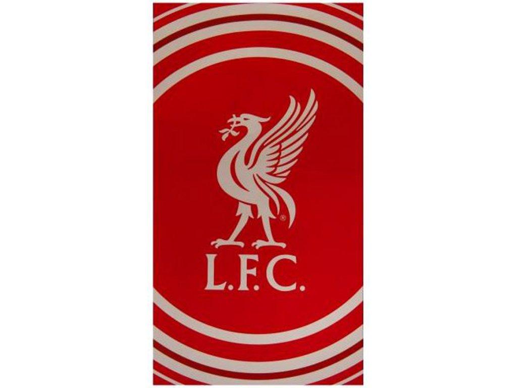 Osuška FC Liverpool: Logo (70 x 127 cm) červená bavlna