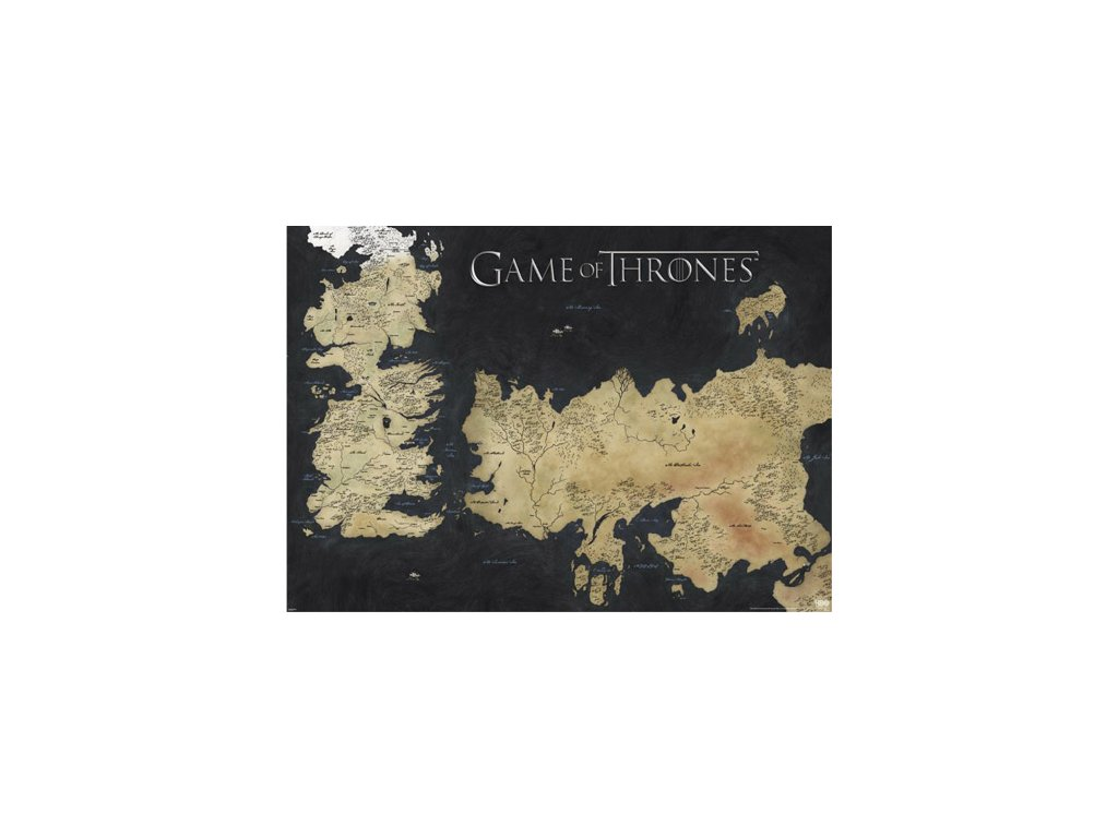Plakát Game of Thrones|Hra o trůny: Map of Westeros & Essos (140 x 100 cm)