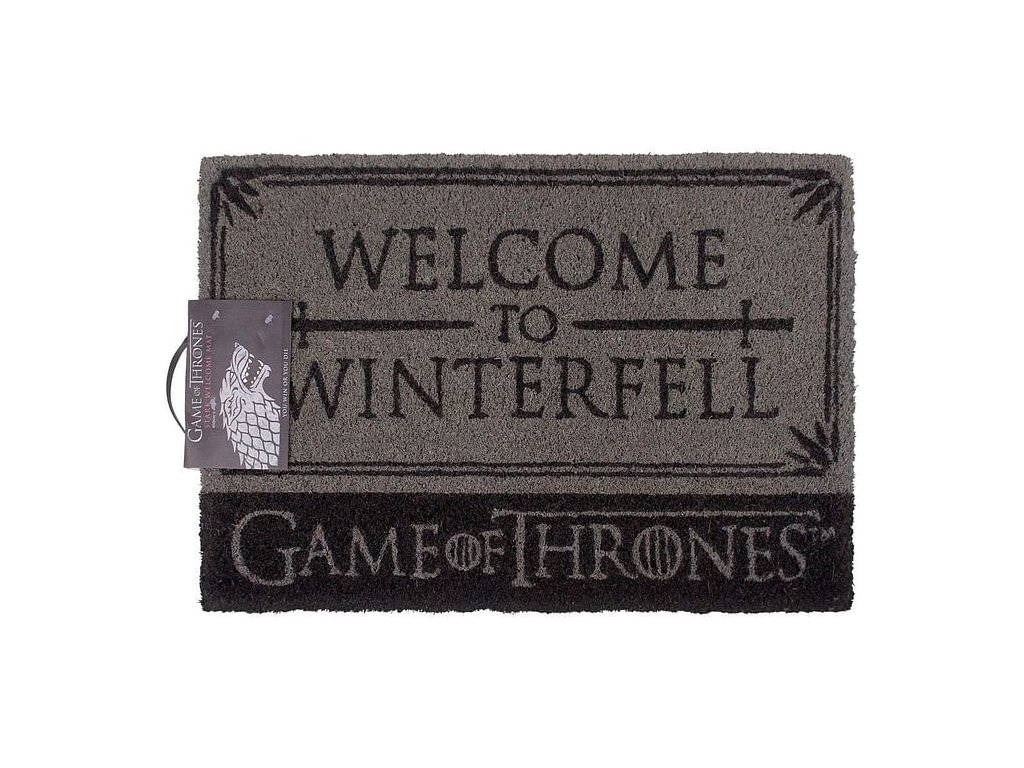 Rohožka Game of Thrones|Hra o Trůny: Welcome To Winterfell (60 x 40 cm) šedá