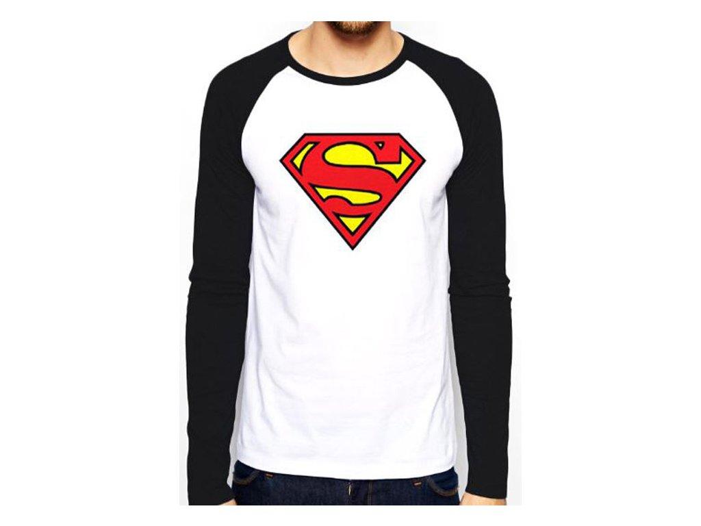 TRIČKO PÁNSKÉ DLOUHÝ RUKÁV DC COMICS SUPERMAN LOGO BÍLÉ (L ... af56b373ce