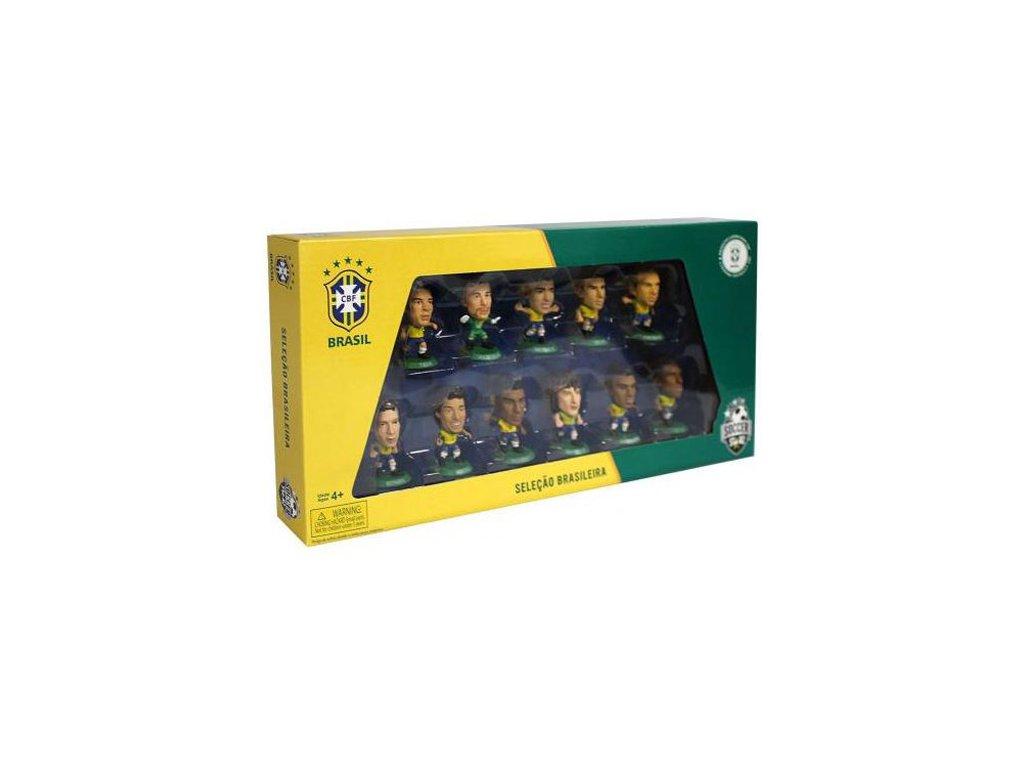 Set 11 plastových figurek: Brasílie (výška 5,0 cm set 18 x 35 cm)